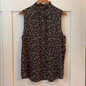Ruffle collar button up blouse